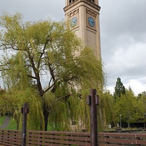 Great Northern RR clock tower
