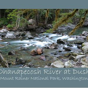 Ohanapecosh River Time Lapse Panoramas