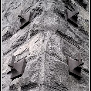 Chimney detail of old iron smelter in Lake Oswego, OR