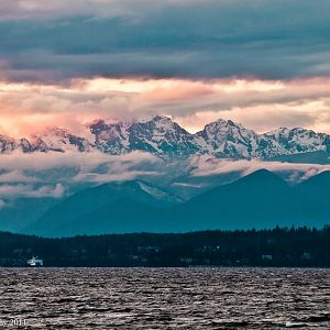 Olympic Mountains at Twilight