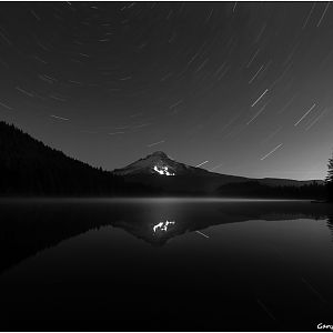 Star trails at Trillium