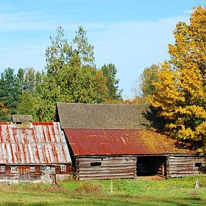 old log barn