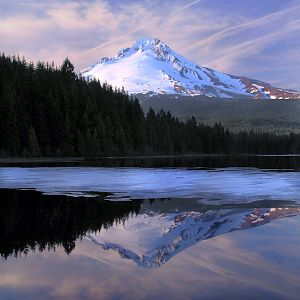 Trillium Lake on ice